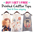 16 Designs BUY 1 GET 1 FREE Chiffon Top - S449