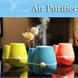 Portable Mini USB Humidifier Flower Vase Air Purifier Air Freshener Mist Maker Fogger Maker Aroma Diffuser Gift for Home Car Prevent Drying Reduce Office Radiation