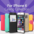 ★ iPhone 6 Case Collection ★ Apple iPhone 6 4.7inch/ Flip Diary Jelly Hard View Cover casing/convenience/Apple guide/Smart Phone Case