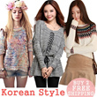 Korean version of womens sweaters / sweet little fresh and simple sweater