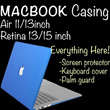 MacBook Casing/Pouch/Protector/All in One{MacBook Pro Retina 13 inch/15 inch}{MacBook Air 11 inch/13 inch}