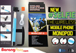 [Malaysia Seller - BarangAsia.com] Monopod with build-in Bluetooth Shutter. Z07-5 high quality and auto connect.