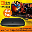 XIAOMI tv box enhanced version 3/xiaomi 3rd Generation/english and chinese android os/4 k hd network TV set-top box