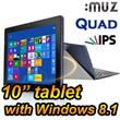[iMuz] Mupad WIN 10.1 Tablet PC 32GB/64GB 7 inch Quad core PC Quad Core android with TV cable for video game