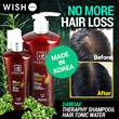 [DAMOAE]No more hair loss!Therapy ShampooTonic/Prevention of hair loss/Dandruff/seborrheic dermatitis/oily/dryscalp