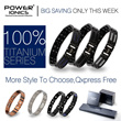 [QXPRESS FREE]Power Ionics® 100% Pure Titanium With NdFeB Neodymium Magnetic Therapy Bracelet wirh Retail Box-More Style To Choose