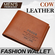 【FEGER】 Simple Compact Genuine Cow Leather Mens Wallet!! Bag/Bags/Handbag/Handbags/Wallet