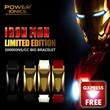 [LIMITED EDITION ARRIVAL]Power Ionics 3000ions/cc IronMan Full Throttle Titanium Ge F.I.R Carbon Fiber Bio Watch Style Golf Sports Bracelet With Retail Box