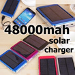 [group buy]48000mah!16800mah!Solar Charger Power Bank 48000mAh New Portable Charger Solar Battery External Battery Charger Powerbank Hot Sale