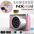 [Samsung]NX Mini Smart Camera 9mm kit/9-27mm kit *1 Year International Warranty* FREE UPGRADE: Extra Battery and 2 X 8GB SD Card