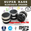 GREAT ITEM FOR CHRISTMAS GIFT!!!~Super Bass BlueTooth Speaker Patented Rotary Speaker design conference feature micro-SD TF card support Handsfree Speaker Phone