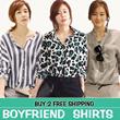 New summer autumn Boyfriend chiffon/cotton T shirt / Blouse /Dress High Quality Buy 2 Free Shipping