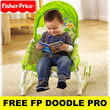[Ready Stock]Fisher-Price Precious Planet Newborn to Toddler Baby Rocker♥FREE Doodle Pro♥Seahorse♥Diaper Bag Mummy