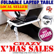 3 in 1 E-Table* Foldable Laptop Table with Cup and Mouse Pad* Cooling System E Table with Cup Compartment* Lightweight Easy to Carry*- As Seen on TV