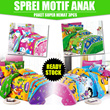 [PAKET SUPER HEMAT 3pcs] ★SPREI MOTIF ANAK - UKURAN 120X200★ READY STOCK - BEST PRICE!!