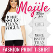Premium Print T-shirt!! Save up to 70% High Quality and affordable fashion t-shirt~~ [Fit S - XL] MAJILE by The South Wick~