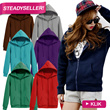 KOREAN STYLE WOMEN HOODIES 12COLORS★COTTON FLEECE★GOOD QUALITY★JACKETS★SWEATERS★OFFICE★TRAVEL★CASUAL