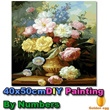[Free Delivery]★Size-40x50cm★ DIY Paint-by-Numbers Canvas Painting Set/ So many designs-GDB