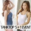 ★TODAY PROMOTION! $1.90 Hurry UP!★[5+1 EVENT]High quality Tank top/ 5 buy 1 free!!/Sleeveless tee collection/Tanktop Dress/T-shirt/inner wear/home wear