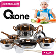 OX-933 [12+2PCS ECO COOKWARE SET]★OXONE★PANCI★STAINLESS STEEL★