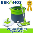 2014 New Magic Spin Mop Bucket New Design for Use Wet or Dry Deluxe Rolling Spin Mop two types Flat and round 360 Genuine Warranty/Fast shipping★