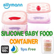 SILICONE BABY FOOD CONTAINER / BPA FREE / BABY FOOD / BABY FOOD STORAGE / TRAVEL / COOK / BABY