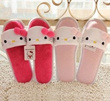 Cute kitty plush winter fashion female home skid slippers home slippers indoor slippers plush shoes