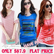 Hot sale!! Only S$7.9 New Arrivals girls' tops/short sleeve and chiffon women's shirts/ Multi-choice/ Korean style