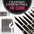 (4pcs PROMOTION) total 34 colors 3W Clinic Eyeliner / Eyebrow / Lipliner Pencil 4pcs (free to choose types and colors)