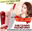 EMILY S2 NANO FACE MIST SPRAY+CHARGER 2nd GENERATION! 10X BETTER ABSORPTION from IBeauty!! WATER YOUR SKIN NOW!
