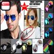 Unisex Multi-Coloured Mirrored Aviator Sunglasses Dark Tint Lenses Gold/Silver Frame UV400 (Singapore Seller Fast Shipment)