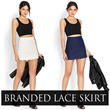 [FVR 39] BRANDED LACE SKIRT AVAIL IN 2 COLOURS! FULL LINING! LIMITED STOCK!!