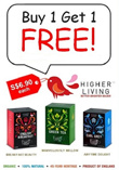 Higher Living Premium Organic Herbal Infusion! Buy 2 And Get a FREE Box of Organic English Breakfast Tea! Limited Time Only!
