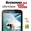 Lenovo A316i 4.0inch New Released Dual Core 1.3GHz!!! 1 Year Lenovo Malaysia Warranty - Free Shipping.