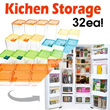 Kitchen Storage Refrigerator Food Storage Container Set 32ea Food block  kitchen home Storage box