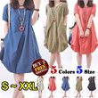 LOWEST PRICE 21 STYLES【BUY 2 FREE SHIPPING】2014 Hot Sale Womens Fashion Organic Linen cotton Dress/5 colors 5 size