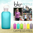 [Hollywood Star Bottle]BKR ECO-Friendly 500ml Bubbly Glass Water Bottle With Candy Color Soft Silicone Sleeve