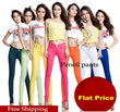 * Buy 3 Free Shipping * 2014 new Korean candy colored pencil pants leggings denim pants feet