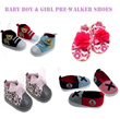 *Boys and Girls baby Pre-walker Shoes*. March 14 arrival. Cute and soft material. Many latest designs. Cheap.