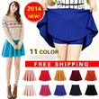 [FREE SHIPPING]2014 Colorful Skater Skirt/Pleated Skirt/Candy color/Short Skirt/Culottes pants/skirt with shorts