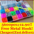 ★Buy now to get free metal hook!Rainbow color Deluxe loom kit 5600(4400+free 1200=5600pcs band)at 12.90 only!  Metal hook/Rubber band refill/Ready stock in SG Fast Delivery!