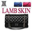 【Dellastella】High quality LAMB SKIN trendy quilting cross it Bag/Bags/Handbag/Handbags/Wallet/_DLE88