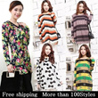 [Free shipping]2014 New ARRIVALS/MORE THAN 100 Designs ※Women's Loose Fit Tops/ Shirts/ Blouse/Korea Style/Plus size/Fast shipping