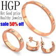 *Christmas gift*2014 new fashion diamond bracelets rings and earrings*Necklaces and anklets(HGP Healthy Jewelry)