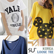 SS1[Sutiem]_[Made in Korea] Premium Trendy Shirts / One Piece / Long T-shirt / plus size / Short Sleeve Tee / dress / stripe shirts