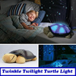 A Child Best Companion For Bed Time.[Twinkle Twilight Turtle LED Lamp]Suit All Ages