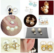 【free shipping】The New!fashionable  both sides of big and small size  pearl earrings♪a grain of pearl earrings♪Choose a variety of colors and style♪Fashion magazine♪Star like styles