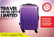 [Malaysia Seller - BarangAsia.com] 20 inch cabin size hard case luggage bag with shell design. 4 wheels and light weight. FREE SHIPPING TO PENINSULA MALAYSIA