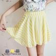 Tokyo Fashion - Asymmetrical Striped Mini Skirt-4011145