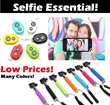 Monopod Selfie/Bluetooth Remote Shutter/Mobile Phone Holder/Set Price/Handheld Stick iPhone Samsung Note 3 Note 2 S5 S4 S3